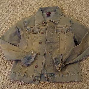 Rampage denim jean jacket vintage wash large